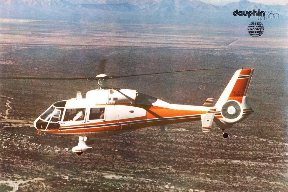 Aerospatiale, Dauphin SA 365 – Affiche ancienne – ANONYMOUS – 1975