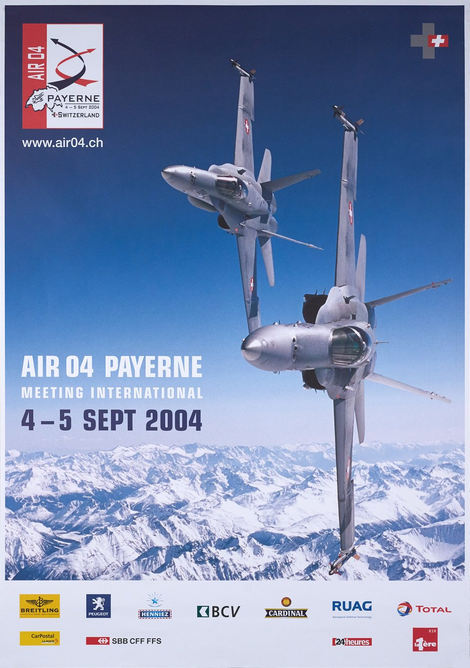 Air 04 Payerne, Meeting International – Affiche ancienne –  ANONYME – 2004