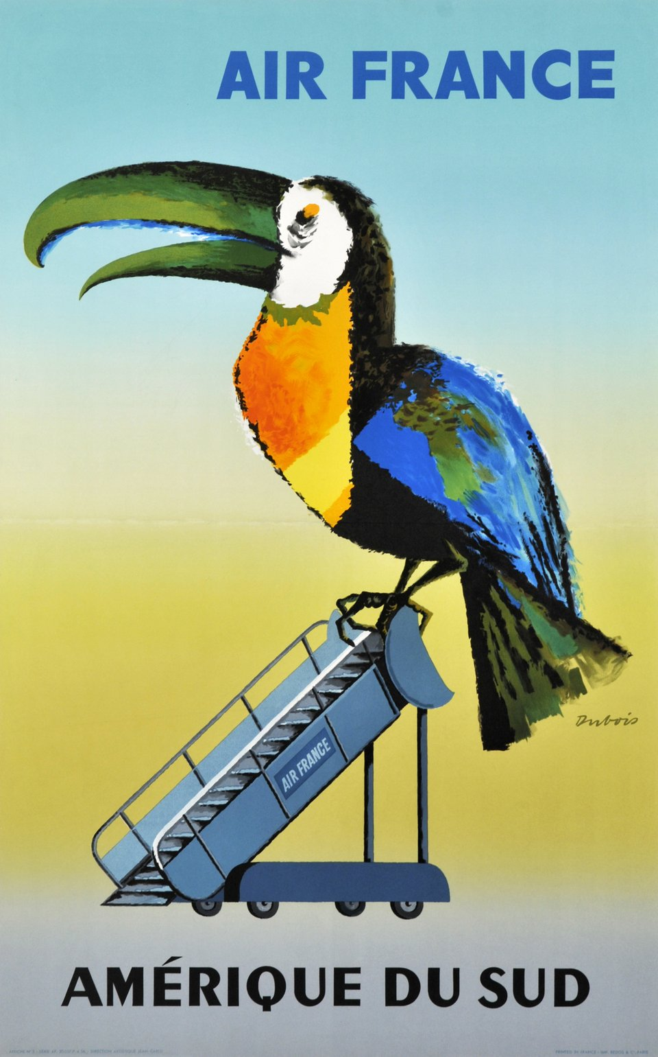 Air France, Amérique du Sud – Vintage poster – Jacques DUBOIS – 1956