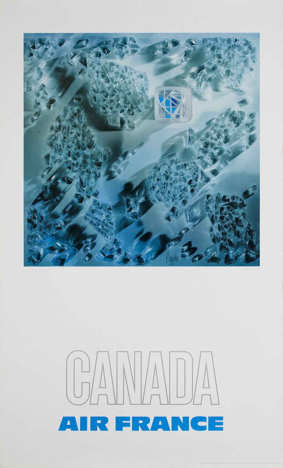 Air France, Canada – Vintage poster – Raymond PAGES – 1971