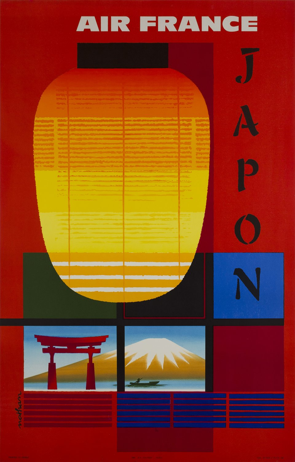 Air France, Japon – Vintage poster – Jacques NATHAN-GARAMOND – 1959