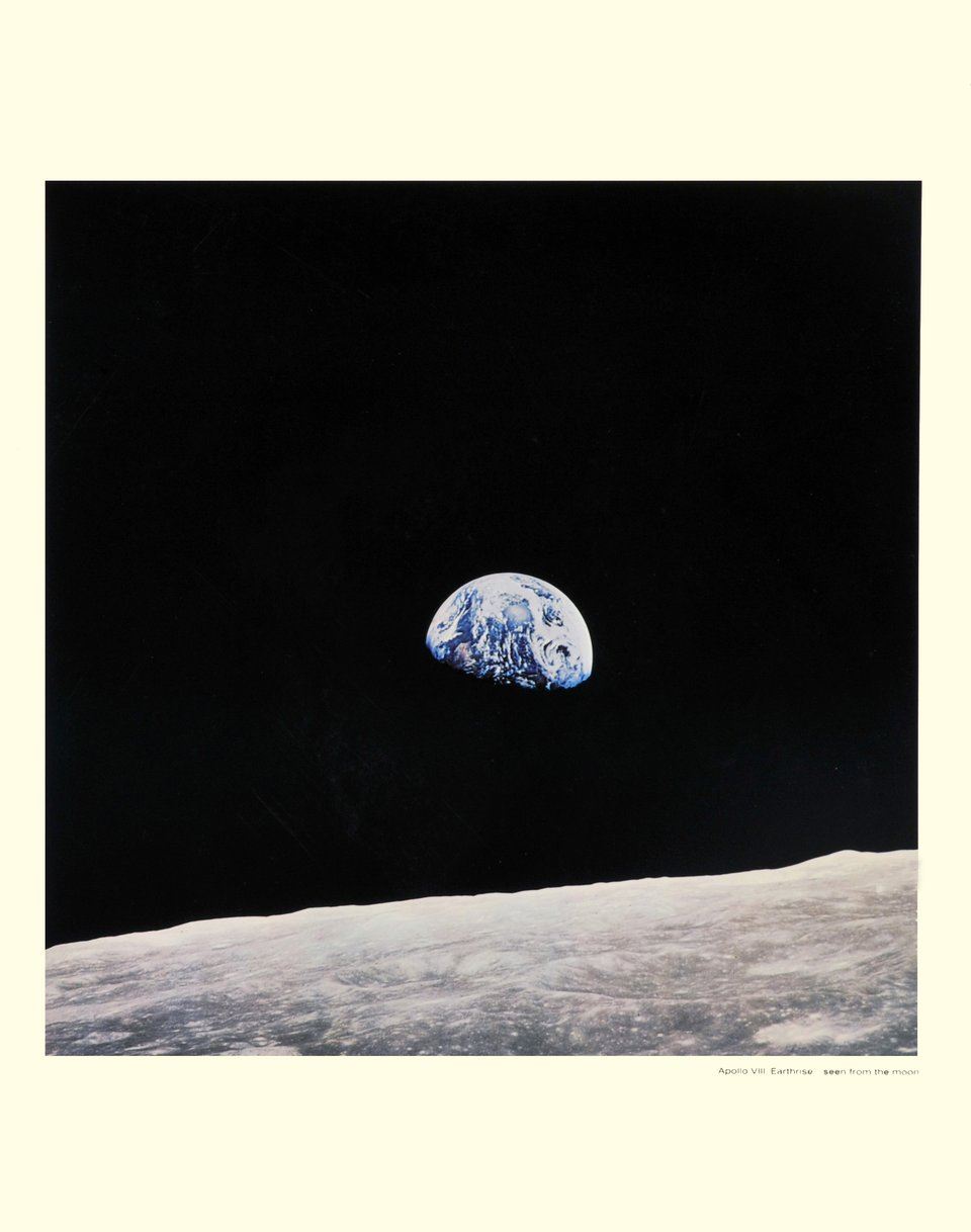 Apollo VIII, Earthrise...seen from the moon – Vintage poster – NASA – 1969