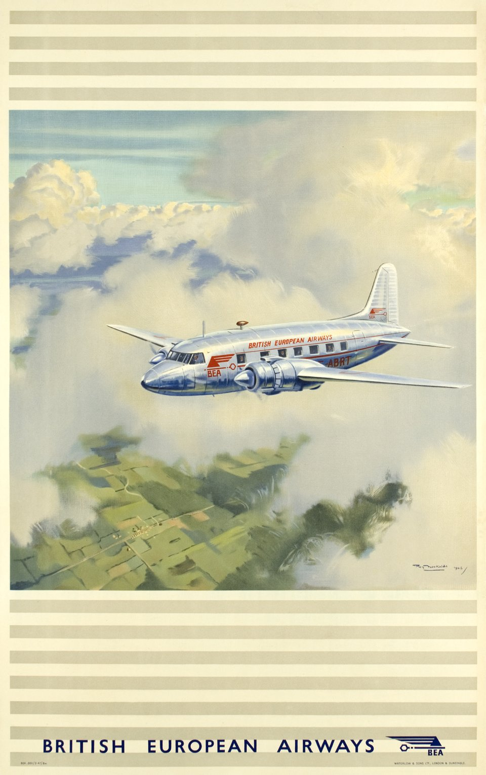 BEA, British European Airways – Vintage poster – Roy NOCKOLDS – 1947