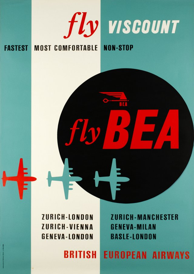 BEA - Fly BEA, British European Airways, Fly Viscount
