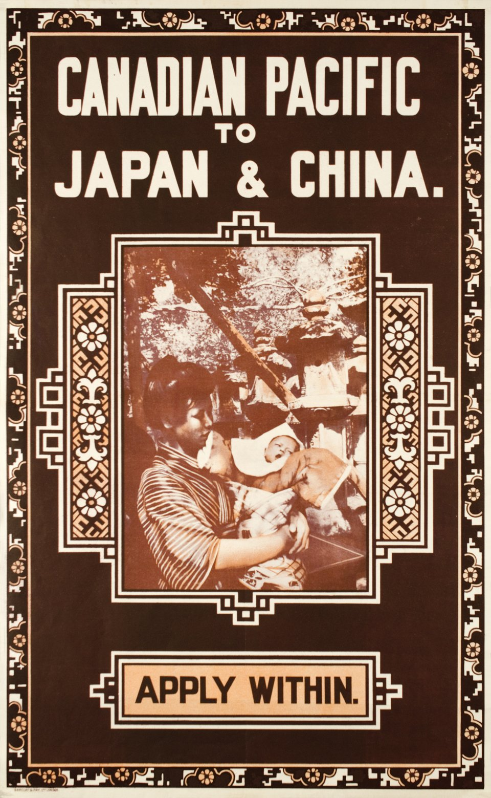 Canadian Pacific to Japan & China. – Affiche ancienne –  ANONYME – 1920