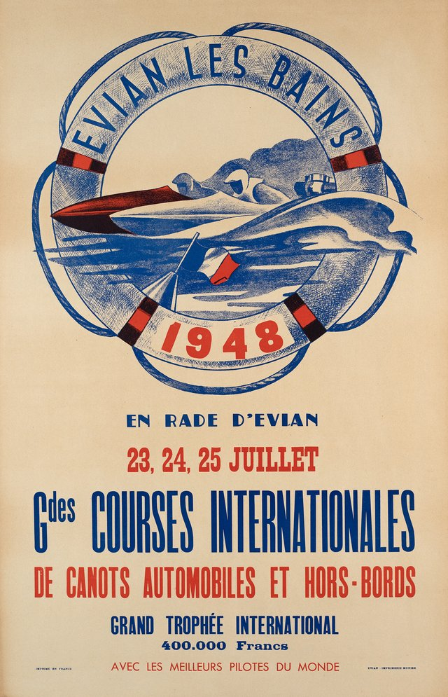 Evian, Courses internationales de canots automobiles et hors-bords