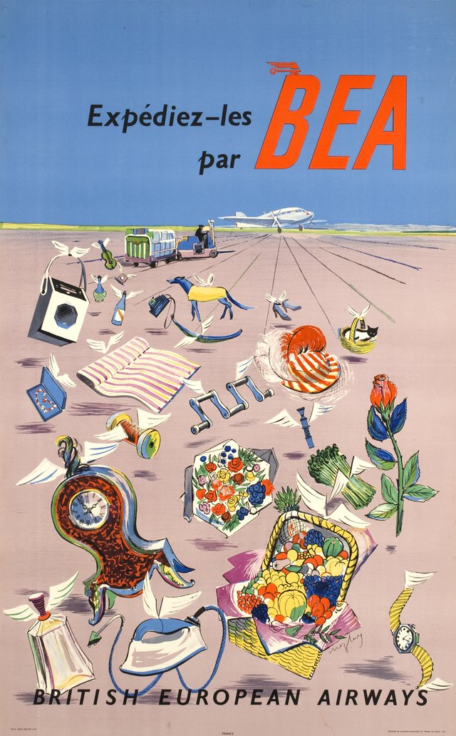 Expédiez-les par BEA, British European Airways
