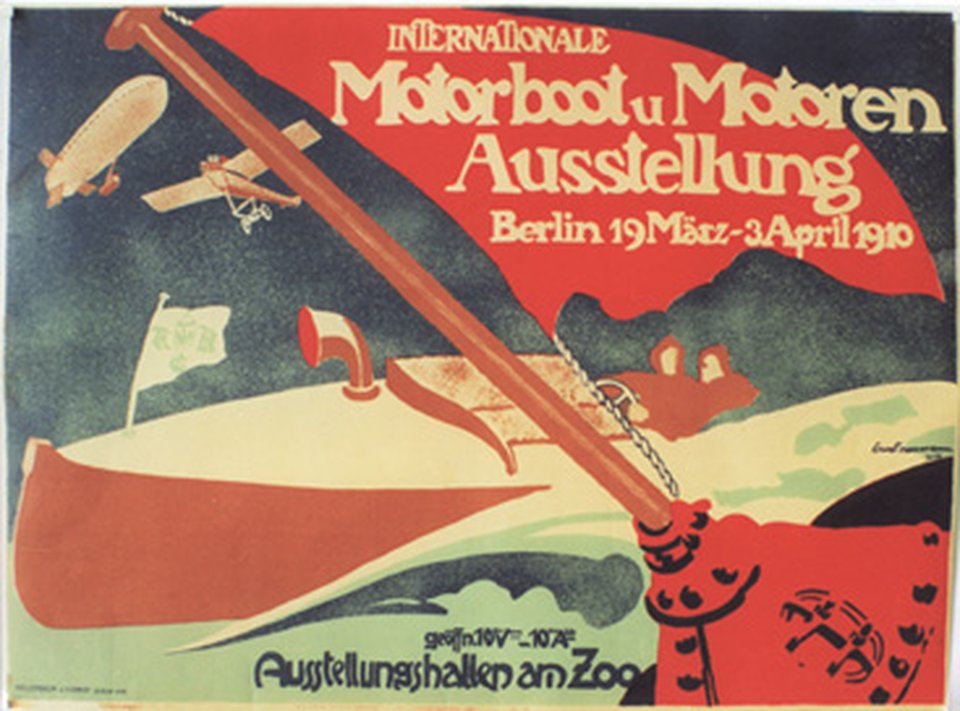 Internationale Motorboot Ausstellung, Berlin – Vintage poster – Ernst NEUMANN – 1910