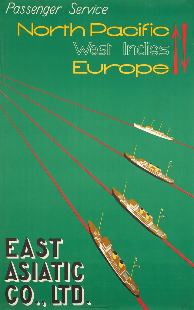 north pacific, west indies Europe, east asiatic co, ltd