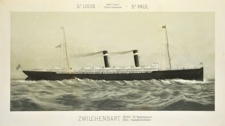 St-Louis, St-Paul – Vintage poster – ANONYMOUS – 1895