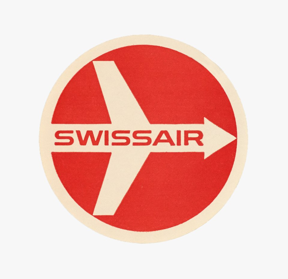 Swissair label – Vintage poster – Ruedi BIRCHER – 1951
