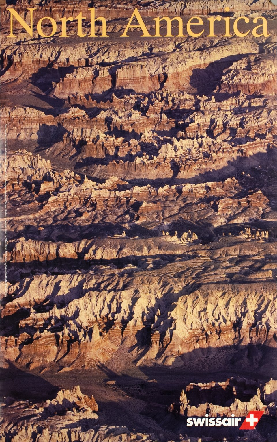 Swissair, North America, Coal Canyon of the Navajo Reservation, Arizona, USA – Vintage poster – Georg GERSTER, Emil SCHULTHESS – 1996
