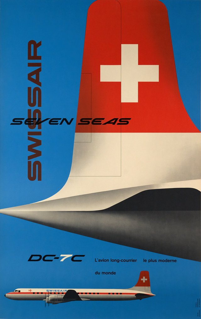 Swissair Seven seas, DC-7C, l'avion long-courrier le plus moderne du monde