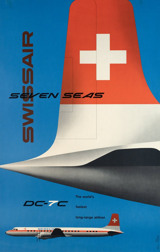 Swissair Seven seas, DC-7C, The world's fastest long-range airliner