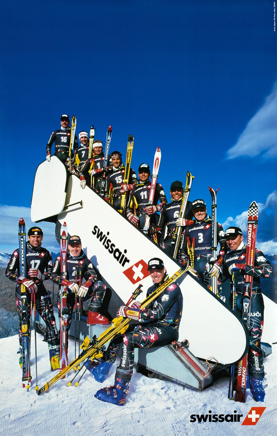 Swissair, Swiss Alpin Ski Team, Men – Vintage poster – ANONYME – 1994