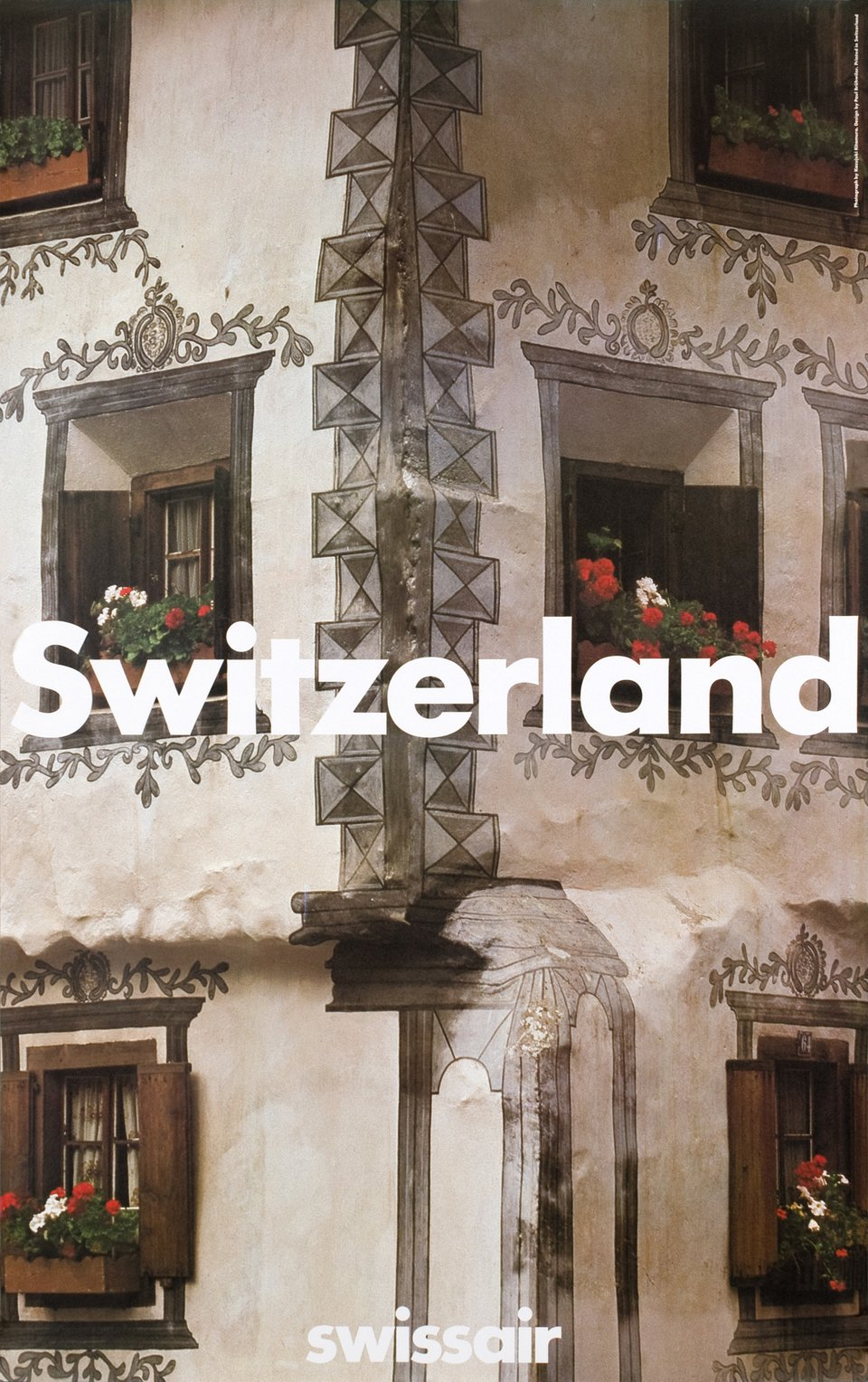 Swissair, Switzerland – Vintage poster – Paul BRUHWILER – 1985
