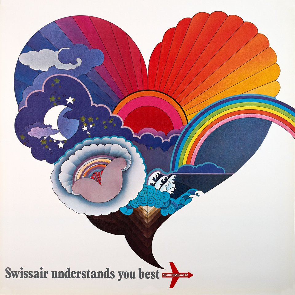 Swissair understands you best – Vintage poster – ANONYMOUS – 1970