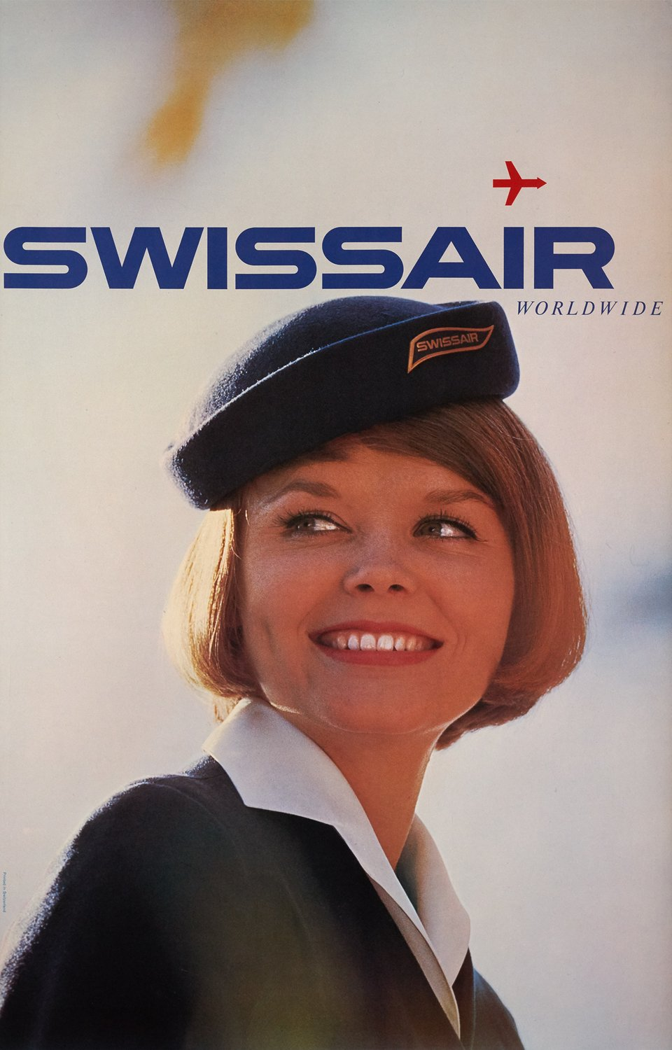 Swissair Worldwide – Vintage poster – ANONYMOUS – 1964