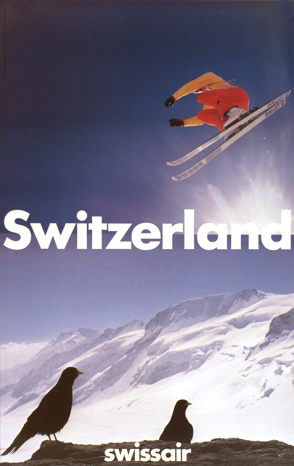 Switzerland, Swissair – Affiche ancienne – Paul BRUHWILER – 1985