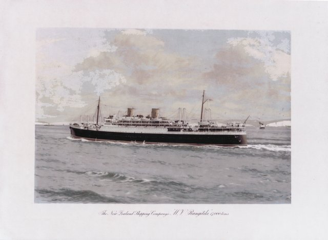 "The New Zealand Shipping Company's ""M.V. Rangitiki"""