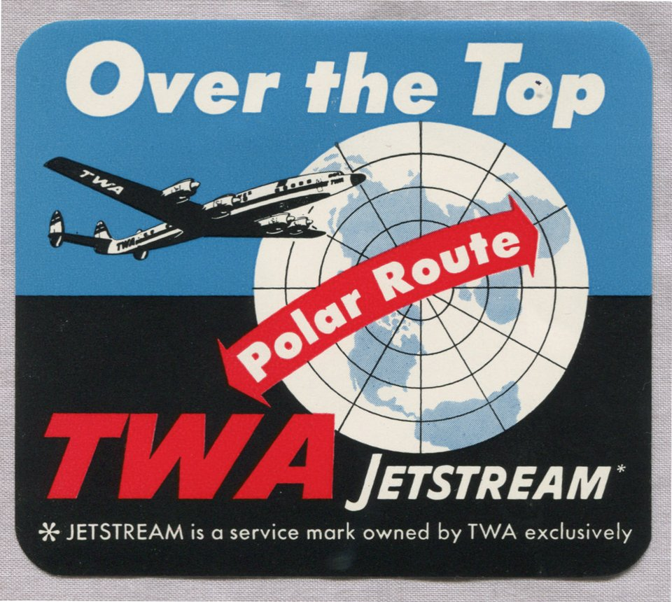 TWA Jetstream Over the Top – Vintage poster – ANONYME – 1952