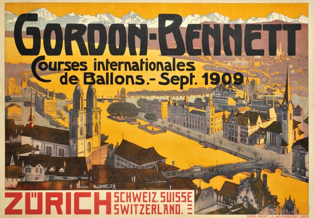 Zürich, Gordon-Bennet, Courses internationales de Ballons 1909