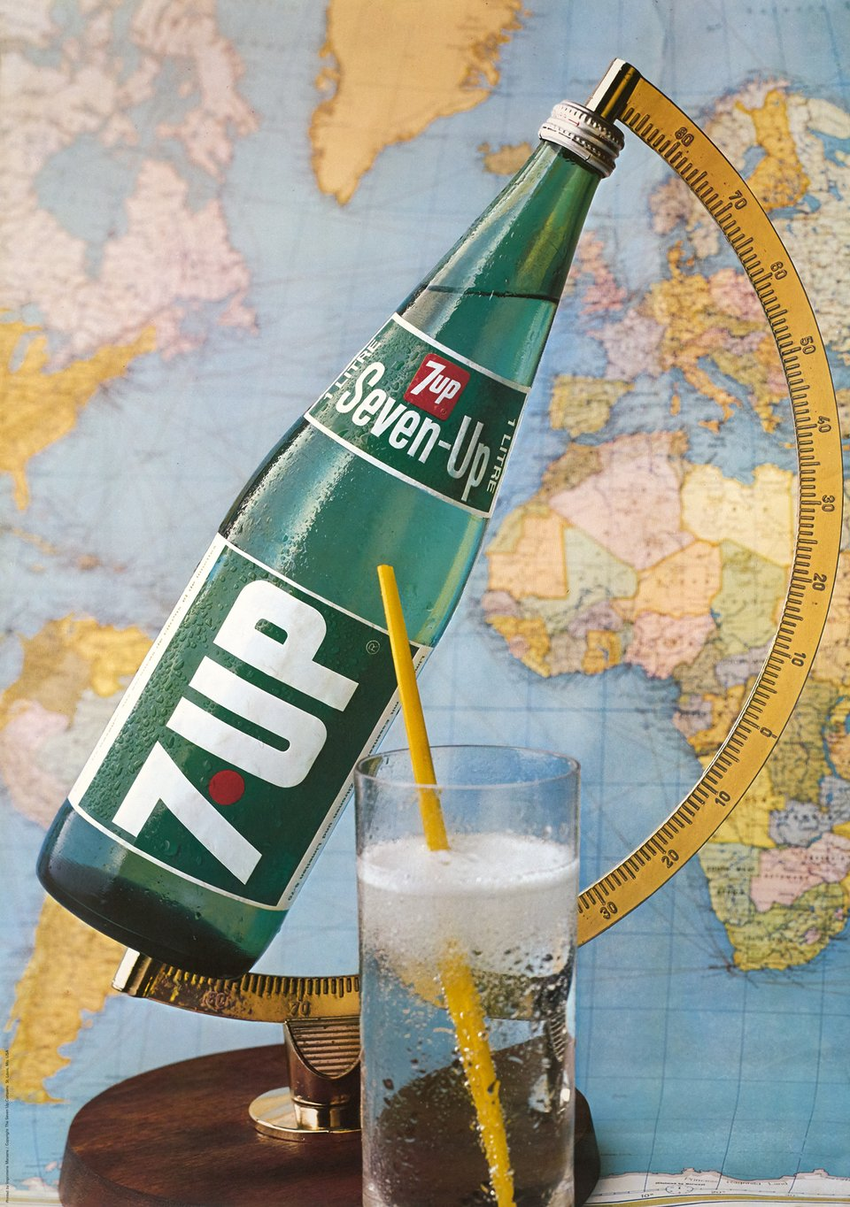 7UP, Seven Up – Vintage poster – ANONYME – 1970
