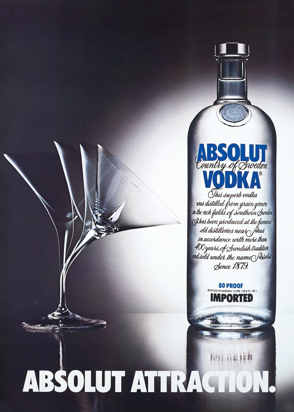 Absolut Attraction – Vintage poster – TBWA – 1980