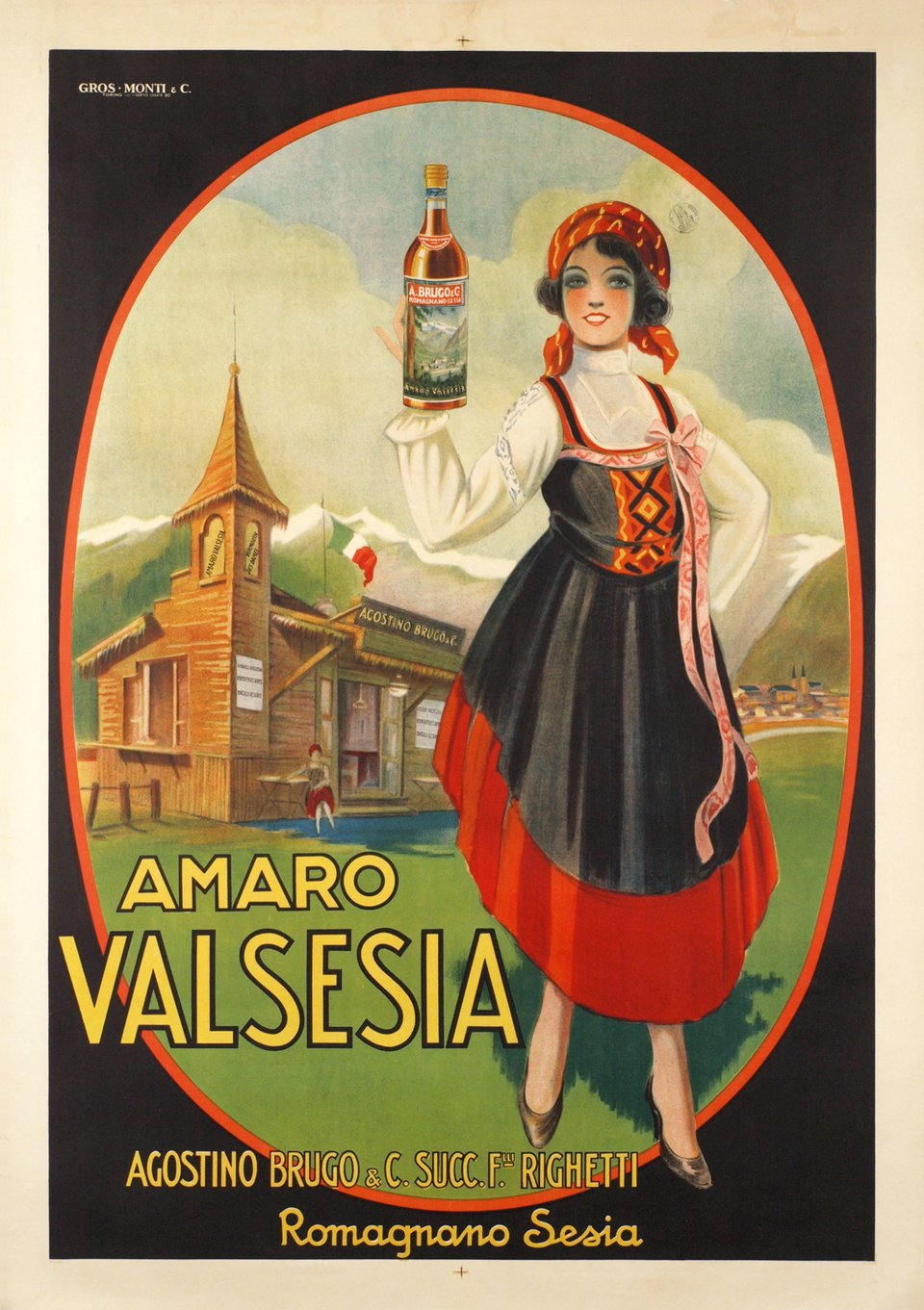 Amaro Valsesia – Affiche ancienne –  ANONYME – 1920