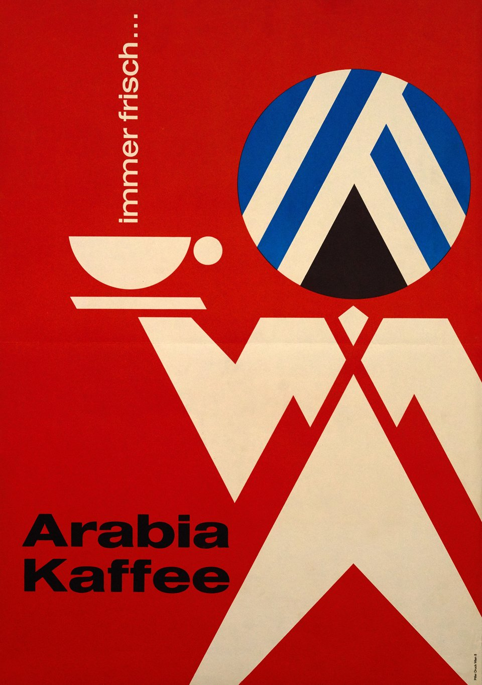 Arabia Kaffee – Vintage poster – ANONYMOUS – 1950