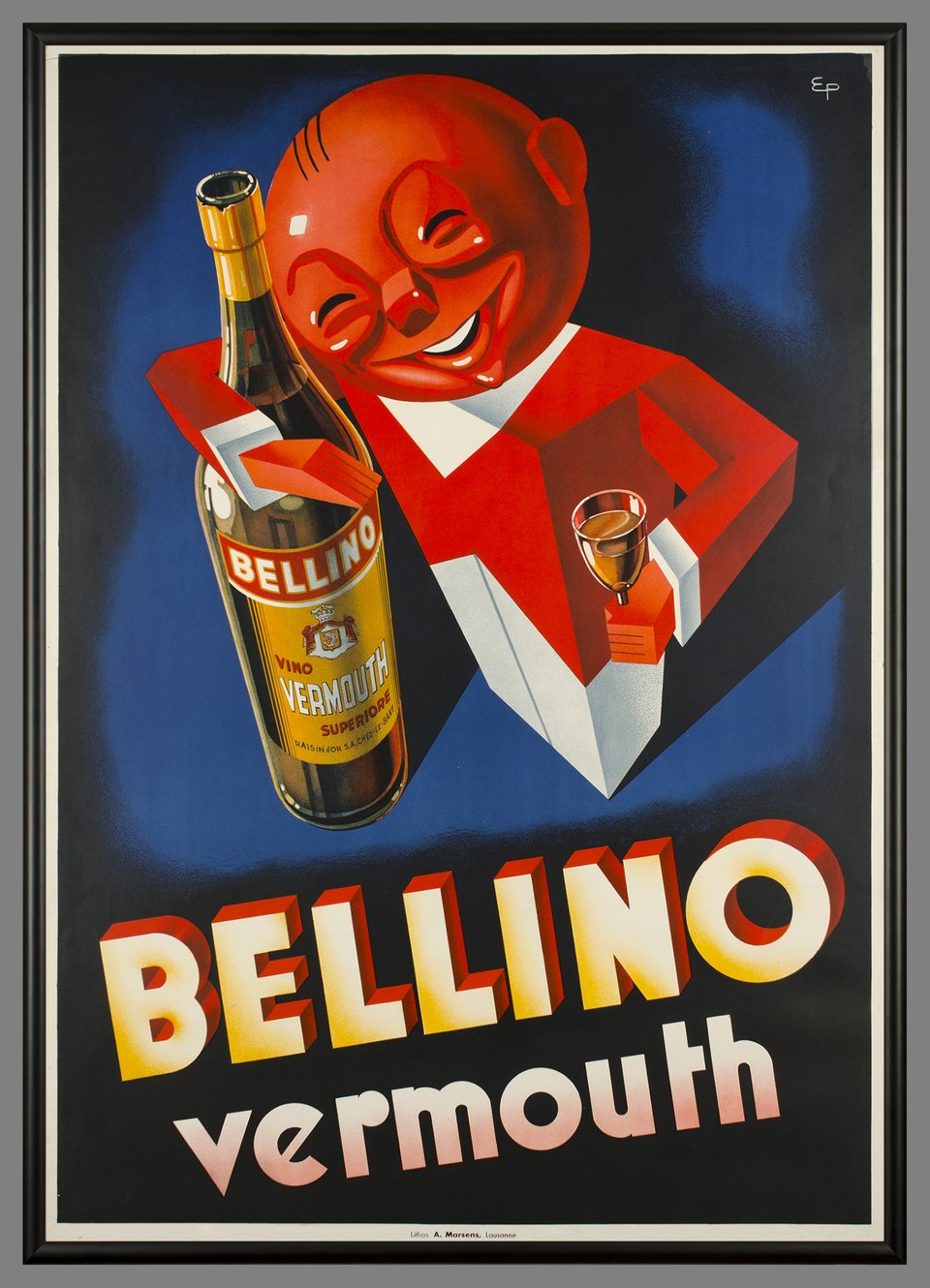 Bellino Vermouth – Affiche ancienne – Eugene PATKEVITCH – 1943