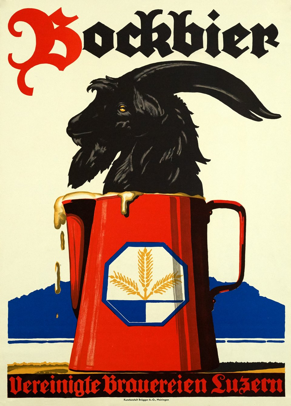 Bockbier – Affiche ancienne – ANONYMOUS – 1930