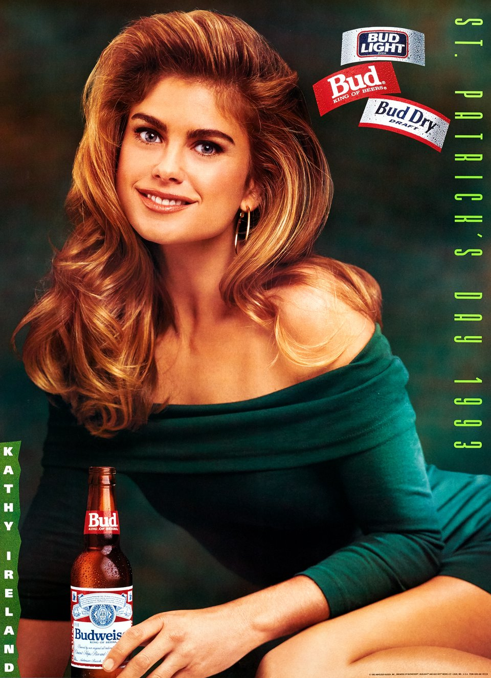Budweiser, St. Patrick's day – Vintage poster –  ANHEUSER-BUSCH – 1993