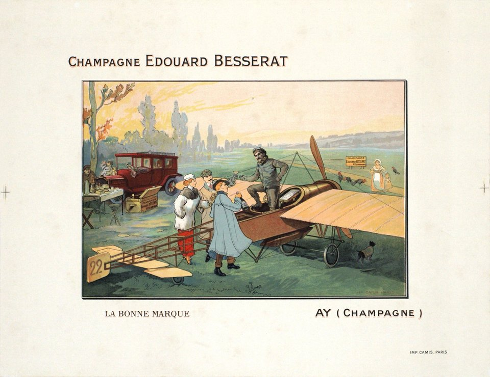 Champagne Edouard Besserat, Ay – Affiche ancienne –  ANONYME – 1905