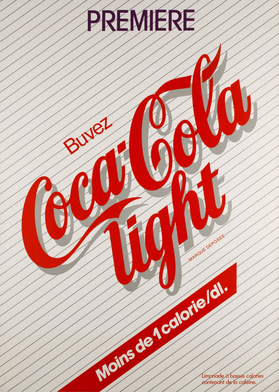 Coca Cola Light – Affiche ancienne – Mc CANN – 1983