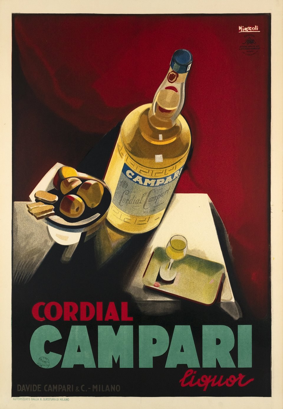 Cordial Campari – Affiche ancienne – Marcello NIZZOLI – 1926
