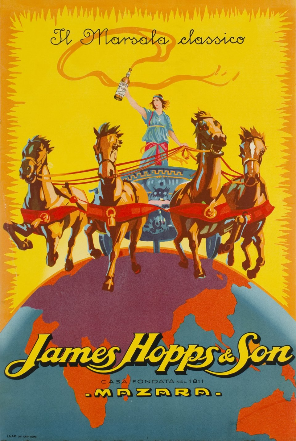 Il Marsala classico, James Hopps & son – Vintage poster – ANONYMOUS – 1920