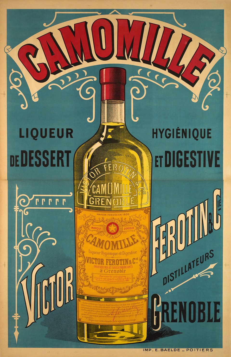 Liqueur Camomille, Victor Ferotin – Vintage poster – ANONYMOUS – 1900