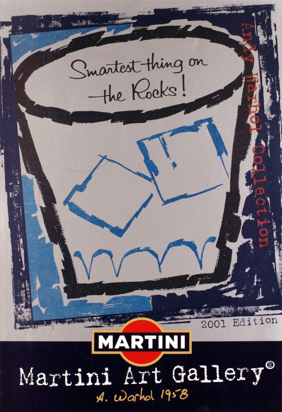 Martini Art Gallery, Andy Warhol 1958, edition 2001 – Affiche ancienne – Andy WARHOL – 2001