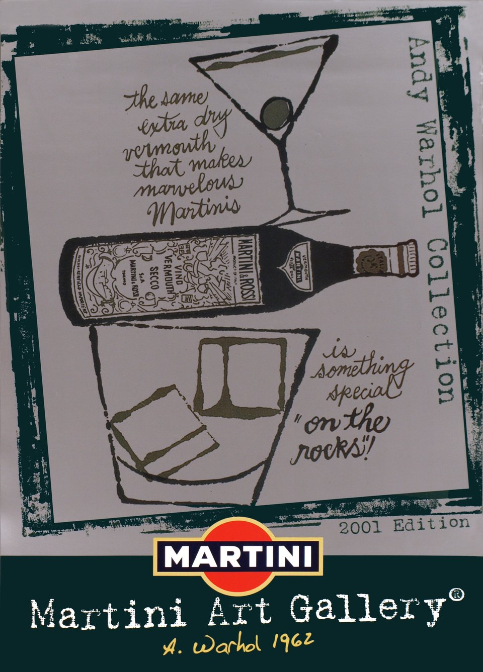 Martini Art Gallery, Andy Warhol 1962, edition 2001 – Affiche ancienne – Andy WARHOL – 2001