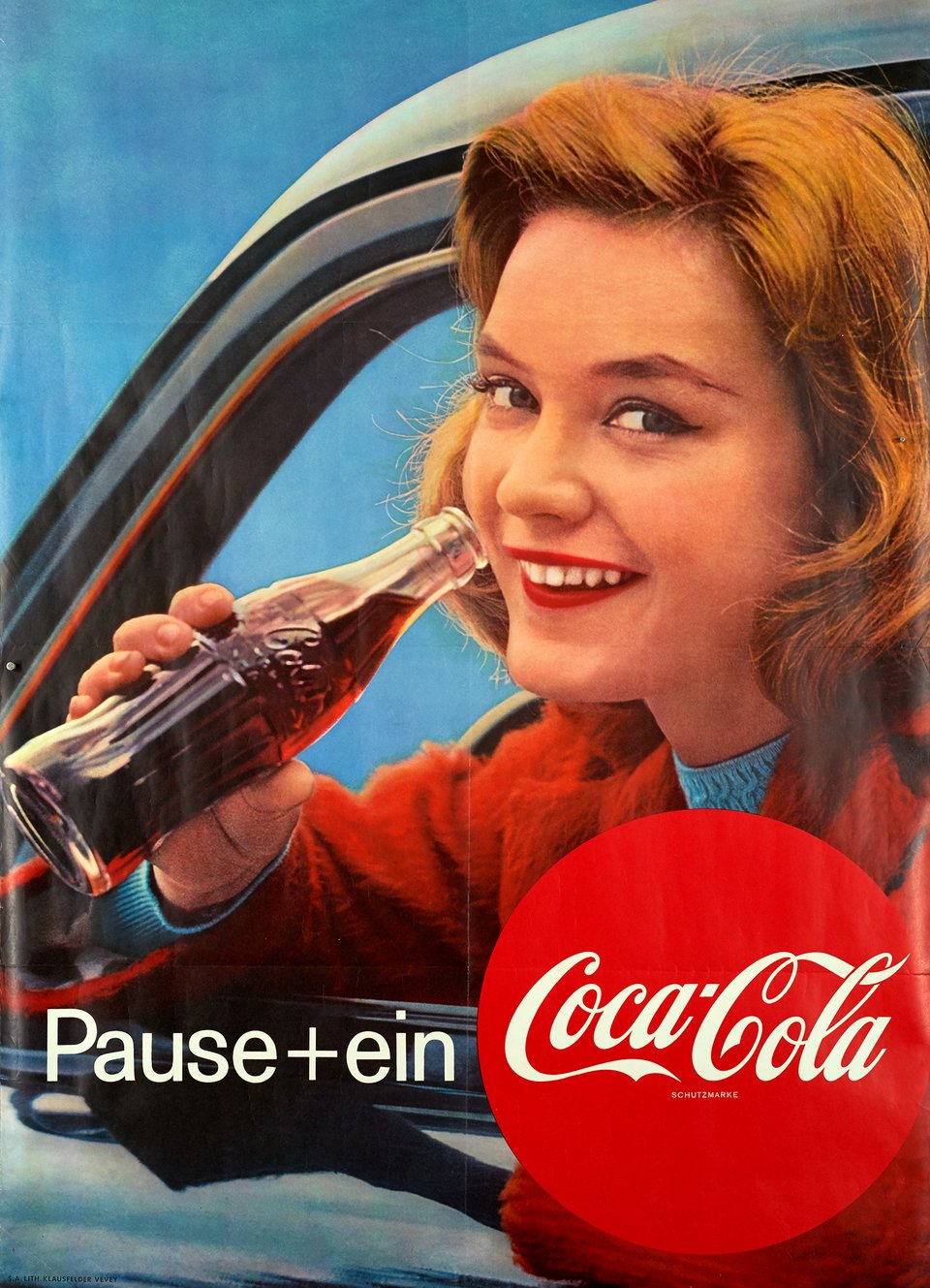Pause Coca-Cola – Vintage poster – ANONYME – 1969