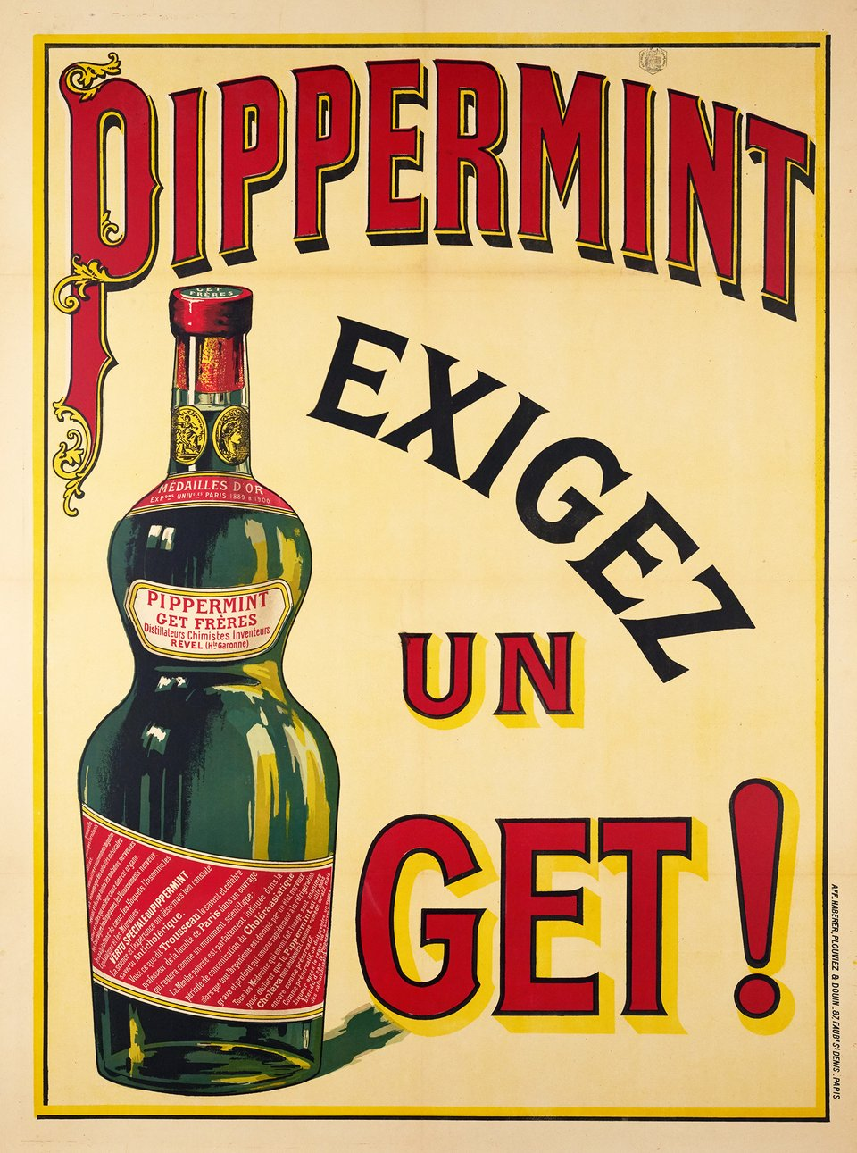 Pippermint, Exigez un Get! – Affiche ancienne – ANONYMOUS – 1900