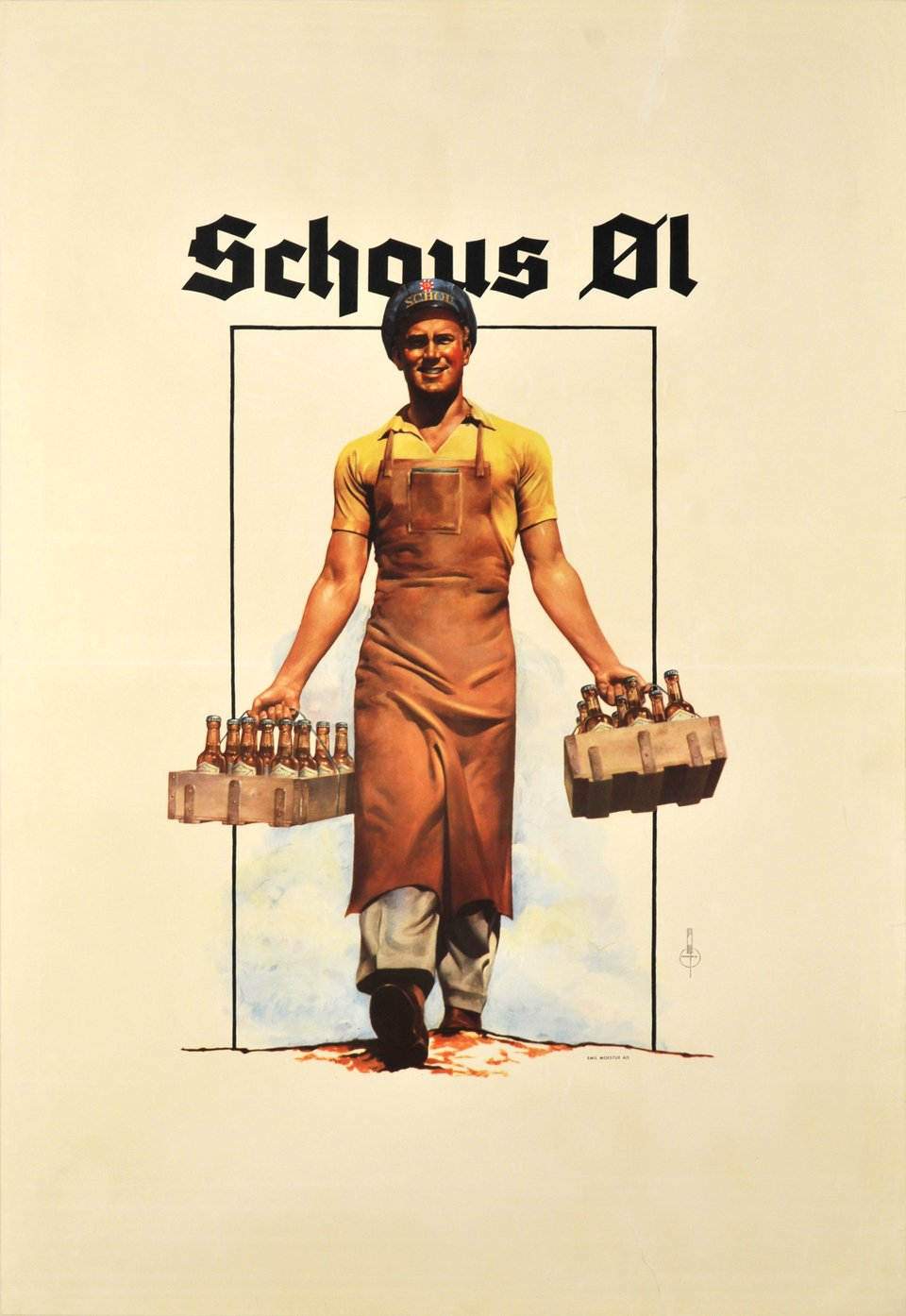 Schous Ol – Vintage poster – CHAMOLIN – 1937