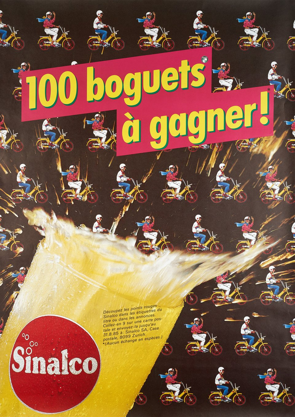 Sinalco, 100 boguets à gagner! – Vintage poster –  ANONYME – 1985