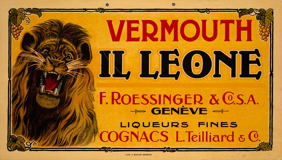 Vermouth Il Leone, Genève – Vintage poster –  ANONYME – 1910
