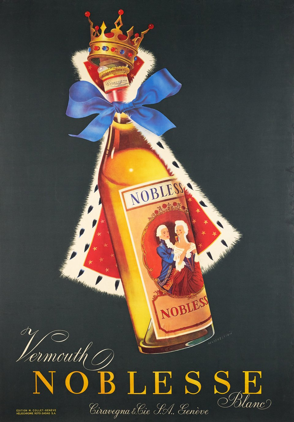 Vermouth Noblesse – Vintage poster – Herbert LEUPIN – 1952