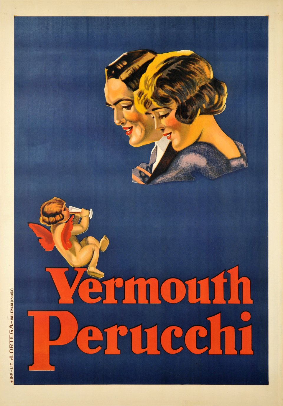 Vermouth Perucchi – Affiche ancienne –  ANONYME – 1925