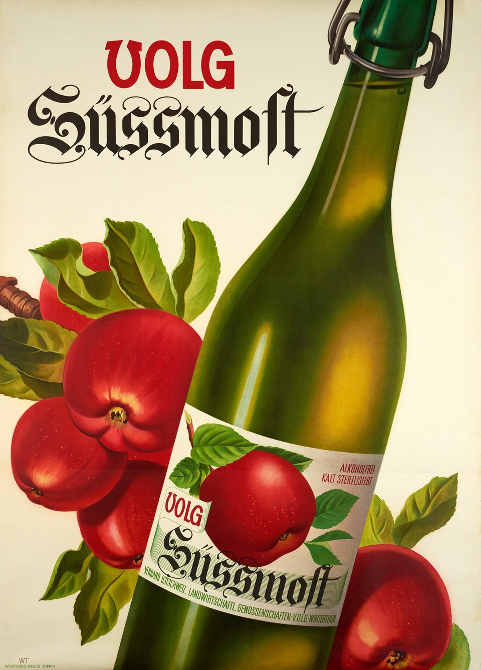 Volg Süssmost – Affiche ancienne – Willi TRAPP – 1941