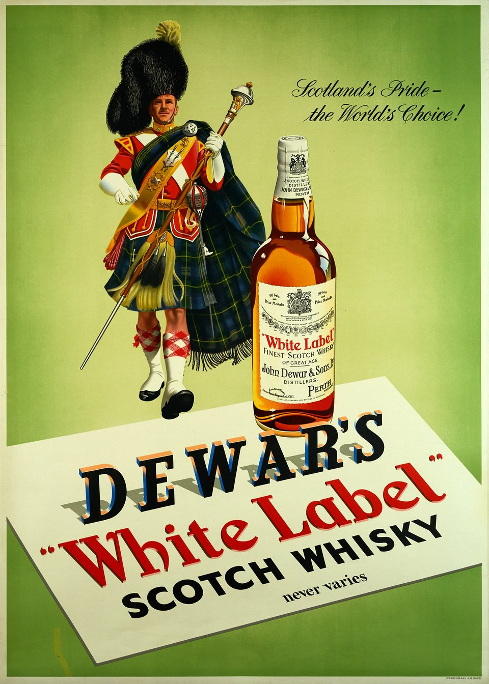 Whisky Dewar's White Label – Vintage poster –  ANONYME – 1955