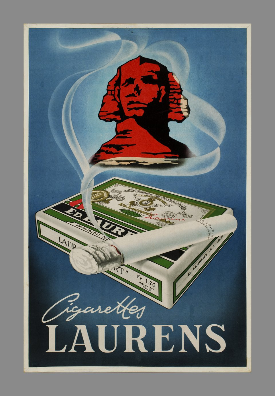 Cigarettes Laurens – Vintage poster – ANONYME – 1950